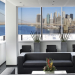 hotel printed roller blinds in a modern flat