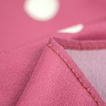digitally printed handkerchiefs close up with red threads
