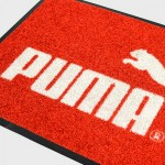 digitally printed product close up of material of Puma Mats