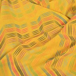 digitally printed close of Sarongs showing the intricate details in yellow with patterns