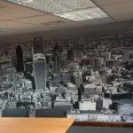 Digitally printed Wallpaper of a skyline
