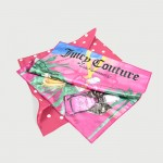 Digitally printed Juicy Couture handkerchiefs used for promotions