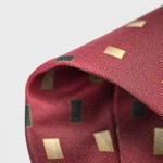 digitally printed ties close up red