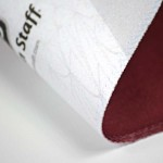 digitally printed product close up of material of a Wilson staff towel