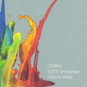 Printed Chiffon Fabric 100% polyester 145cm wide