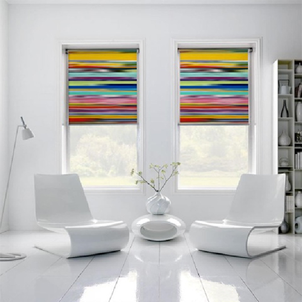 Colourful Standard Roller Blind Fabric in a modern environment