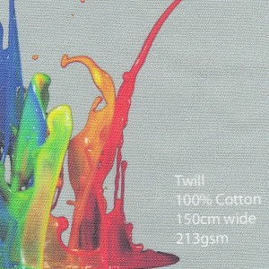 Printed Cotton Twill Fabric 100% cotton, 150cm wide 213gsm