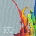 Digitally Printed Half Panama Fabric 100% polyester 145cm wide