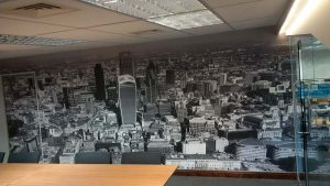 Digitally printed Wallpaper of a skyline